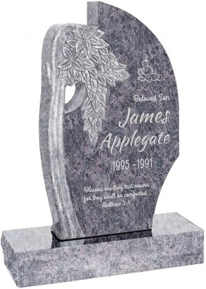 Olive Tree Upright Headstone polished all sides with 34″ Base