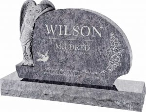 Resting Angel Upright Headstone polished all sides with 66″ Base